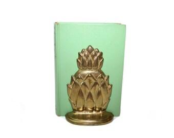 Sadak Gold Pineapple Bookends Pineapple Bookends Brass Pineapple Bookends Hollywood Regency Pineapple Bookends