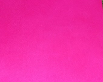 "Neon Leather 8""x10"" NEON Hot Pink PIGSKIN  2-2.5 oz / .8-1 mm PeggySueAlso™ E2531-02"