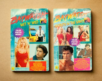 Vintage Early 90s BAYWATCH Books