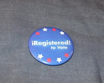 Registered to Vote Voter USA l Pinback Button 2.25""