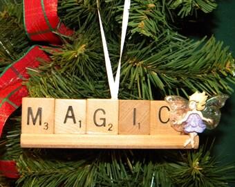 Magic Scrabble Ornament on Rack 7437