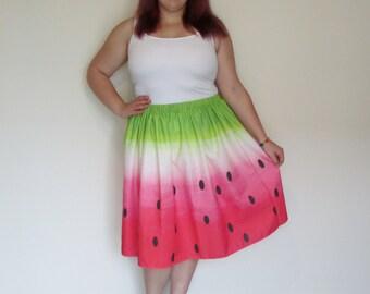 Watermelon Midi Skirt