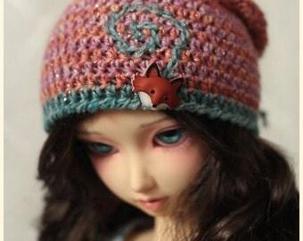 Delf Feeple60 SDGr - Mori Foxy Beanie Hat - for Volks Luts ABJD Super Dollfie SD SD13 type Dolls
