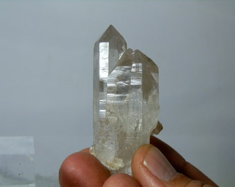 Clear Quartz Crystal Cluster with Muscovite Display Specimen Minas Gerais Brazil Natural Terminations Lemurian Seed Lines DanPickedMinerals