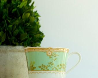 Mikasa Hampton Court Green bone china teacup