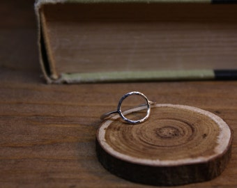 Silver Circle Ring - Open Circle Ring - Argentium Silver Jewelry - Clean Modern Simple - Hypoallergenic Jewellery - Choose Your Finish