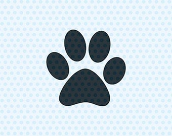 Paw Print Svg, Dog Svg, Svg Files, Cricut Cut Files, Silhouette Cut Files