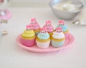 1:6 Scale Sweet Petite Play Scale Miniature Bunny Foo Foo Cupcakes