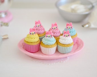 1:6 Scale Sweet Petite Play Scale Miniature Bunny Foo Foo Cupcakes