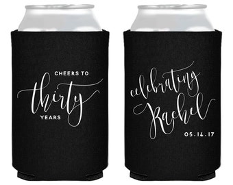 30th Birthday, Birthday Party Favors, Cheers to 30 Years, Personalized Birthday, 30, 40, 50, 60, Party Favors, Cheers Birthday, 1436
