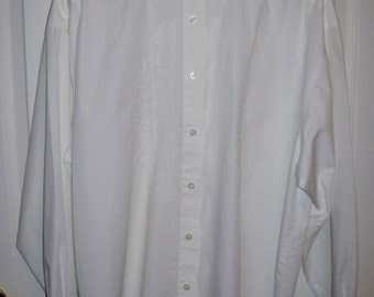 Vintage Ladies White Cotton Blouse by Eddie Bauer Large Only 6 USD