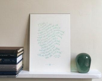 Oh The Comfort Ombré A4 Letterpress Valentine's Art Print