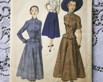 Sewing Pattern Advance #5514 Womens Jacket & A Line Skirt, Size 12