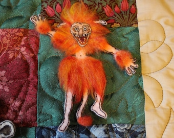 Labyrinth - Firey - Fire Gang - Patch / pin / brooch embroidered - Jim Henson
