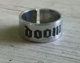 Doom Metal Ring - Silver - Doom Metal - Adjustable