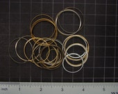 Metal Watch O-rings in Brass, Steel, Aluminium - Lot of Wrist Watch Parts, Metal Rings for Mixed Media Craft Steampunk Art Supplies 03574