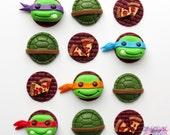 Teenage Mutant Ninja Turtles Cupcake Toppers