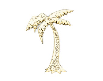 Island Palm Tree, Craft Pirate, Wood Pirate, Laser Cut - 1qty - 4.46 x 6 Inch (11.33 x 15.24cm) -Palm Tree Art, Tropical, Craft Supplies