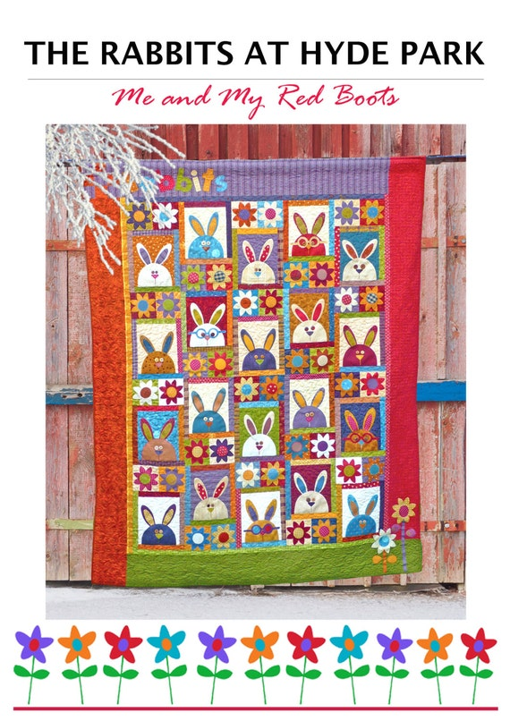 The Rabbits at Hyde Park - PDF Rabbit Quilt Pattern