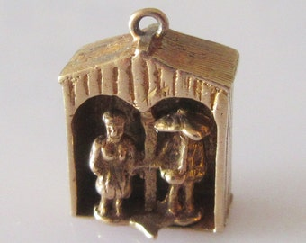Gold Couple in Weather Vane Moving Charm