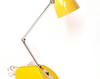Vintage Desk Lamp, Yellow Task Lamp