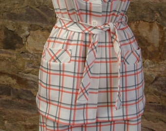 JANTZEN SKIRT and TUNIC set vintage 1960's 1970's plaid separates S