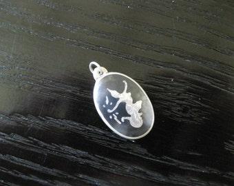 Small Siam Nielloware Mekhala Sterling & Black Enamel Pendant