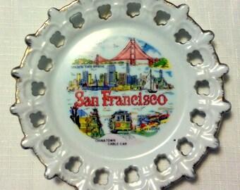 Vintage Retro Ceramic Souvenir Plate- San Francisco