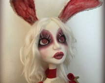 RESERVED-2nd PAYMENT- White Rabbit Art Doll