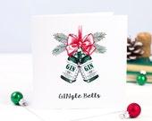 Christmas Card, Gin, Holiday Card, Funny Christmas Card, Christmas Card Pack, Christmas Card Set, Xmas Cards, Gin gift, Holiday Card Set