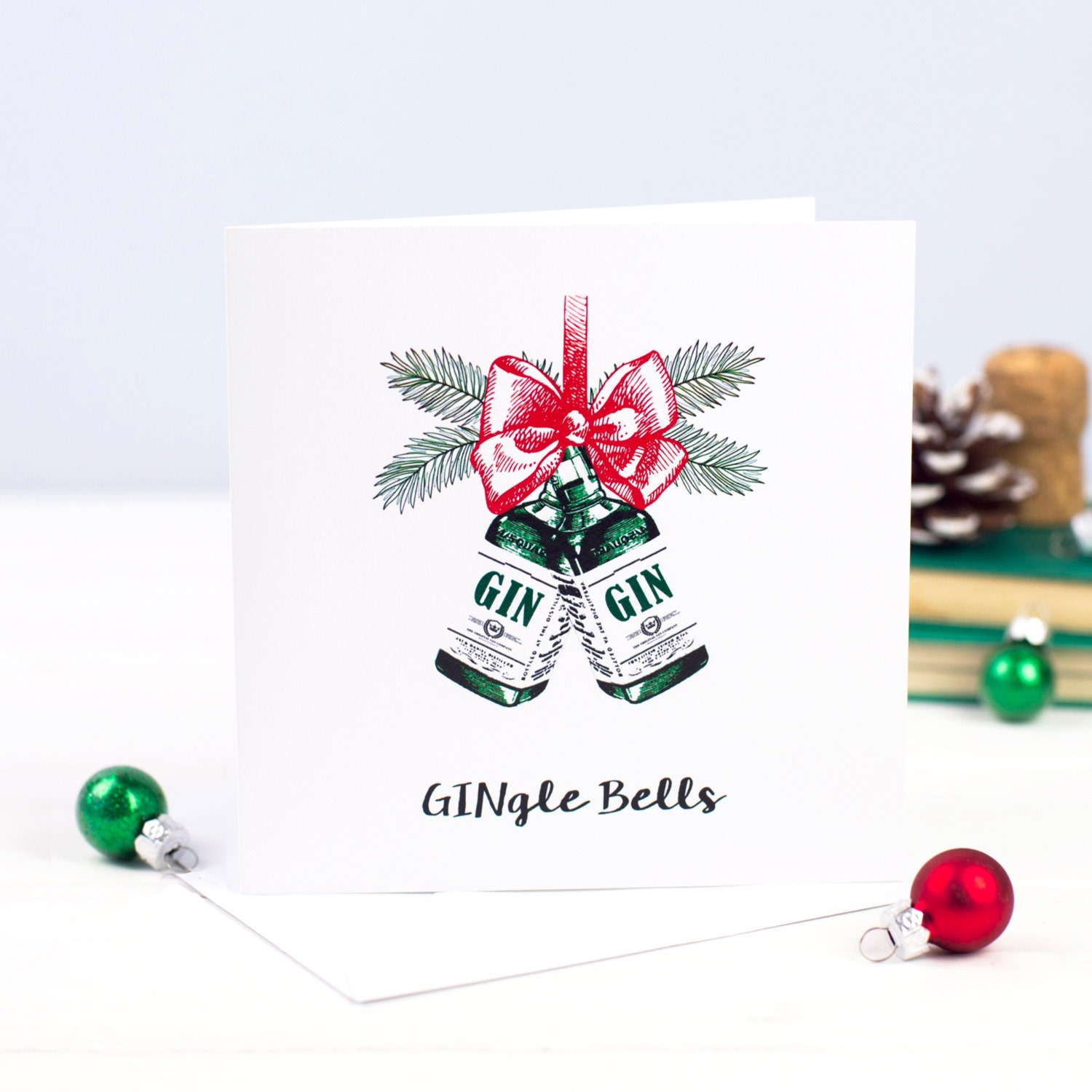 christmas card gin holiday card funny christmas card. Black Bedroom Furniture Sets. Home Design Ideas