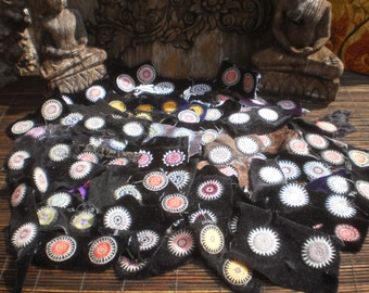 Hmong Stars  Vintage Hilltribe Embroidered Decorations 100