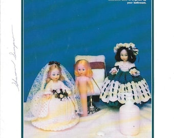 Vintage 1995 Td Creations Crochet Instruction Booklet To Make May and June Crocheted Outfits For A  Toilet Tissue  Doll, Catalog Td-865