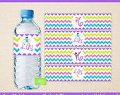 Gymnastics Water Bottle Labels - Gymnastics Water Bottle Wraps - Tumbling Bottle Labels - Digital and Printed Available