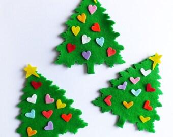 diy kit arbol de navidad de fieltro adornos navidad