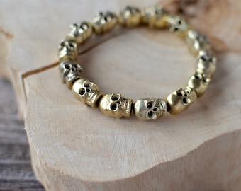 Brass Skull Bracelet