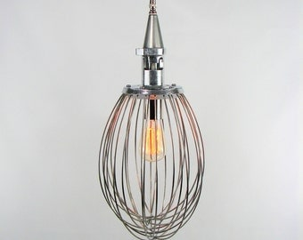 Industrial Lighting Hanging Lighting -Upcycled Whisk