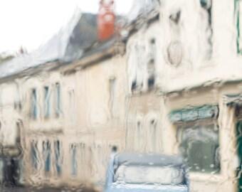 France Fine Art Photo - Vintage Citroen in the rain, French Home Decor, Large Wall Art, France Art Print, Travel Photography, Loire