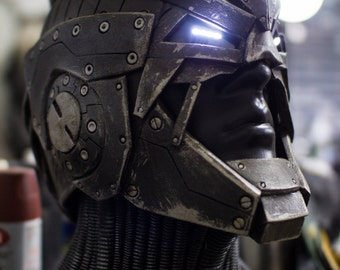 The Berserker - Scifi unique one of a kind light up hero/villain helmet - ready to ship