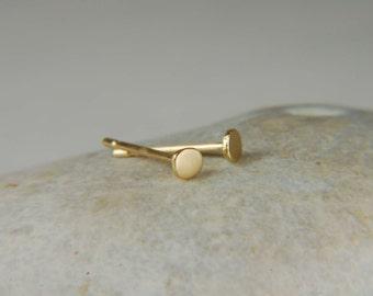 18K Gold Earrings Solid Gold Stud Earrings Minimalist Gold Earrings 18K Gold Studs Simple Gold Earrings