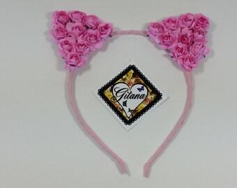 Cat Headband-Ariana Grande Cat Headband-Ariana Cat Ears-Lolita Headband-Lolita Accessories-Neko-Pink