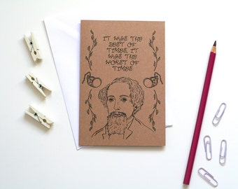 Charles Dickens Card A Tale Of Two Cities Card Book Card Greetings Card Book Lover