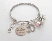 She Believed she could so she did Nurse Graduation Gift, Physician Assistant Jewelry, Gifts for Medical Students, Nurse Graduate Bracelet