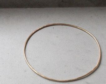 Single Bangle, single handmade circle, modern geometric jewelry