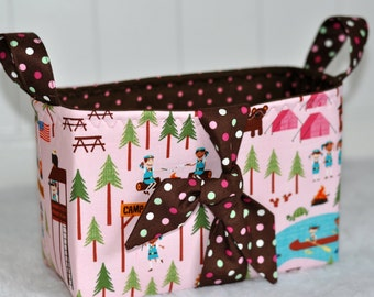 Girl Scout basket, Girl scout leader gift, camping basket, girl camp basket, summer camp basket, daisy leader gift,