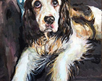 Custom Pet Portrait Oil Painting 12x16 inch Commissioned birthday gift