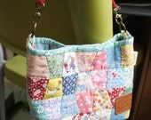 30's reproduction Casual Patchwork Weekend Bag