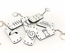 Naruto Hidden Village Reversible Lasercut Keychains