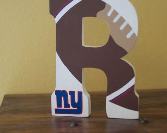 Football free standing letter -- New York Giants -- or choose your own team!