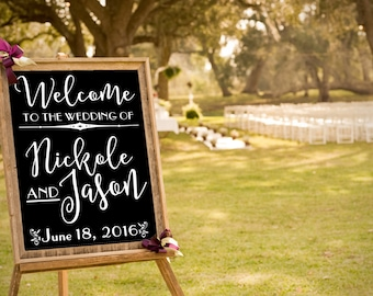 Custom Wedding Decal, Wedding Welcome Sign, Art Deco Wedding Decor, DECAL/Sticker ONLY, 1920 Style Wedding, DIY Bride Craft
